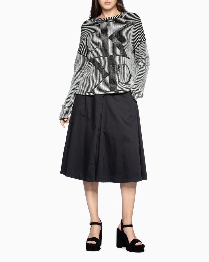 CALVIN KLEIN LACE-UP ボックスプリーツスカート