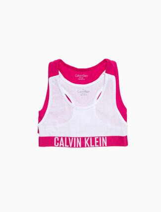 CALVIN KLEIN GIRLS 2 PACK LOGO BRALETTE