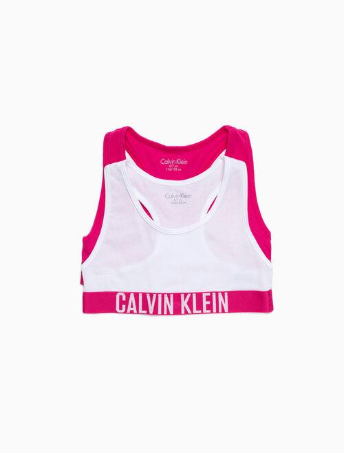 CALVIN KLEIN 女孩款 LOGO 無鋼圈內衣(2 件組)