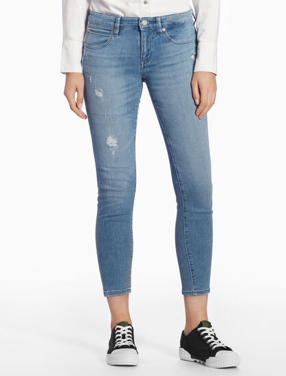 CALVIN KLEIN DISTRESSED STRAIGHT BODY JEANS
