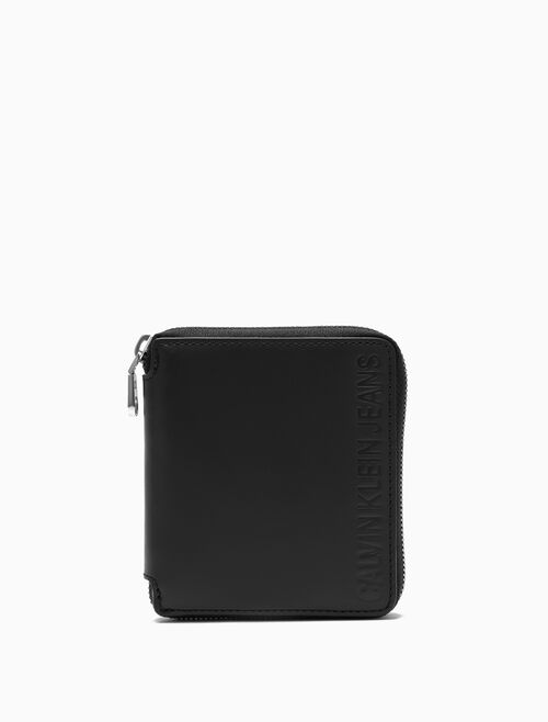 CALVIN KLEIN SQUARE ZIP AROUND WALLET