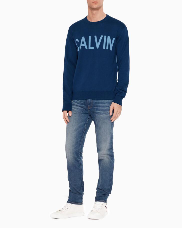 CALVIN KLEIN CALVIN LOGO SWEATER