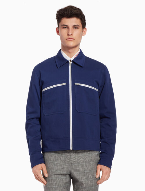 CALVIN KLEIN Boxy cotton jacket