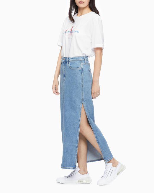 CALVIN KLEIN 여성 디그레이드 모노그램 반팔 티셔츠