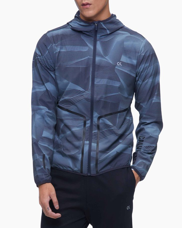 CALVIN KLEIN DIGITAL MOTION PRINT WINDBREAKER JACKET