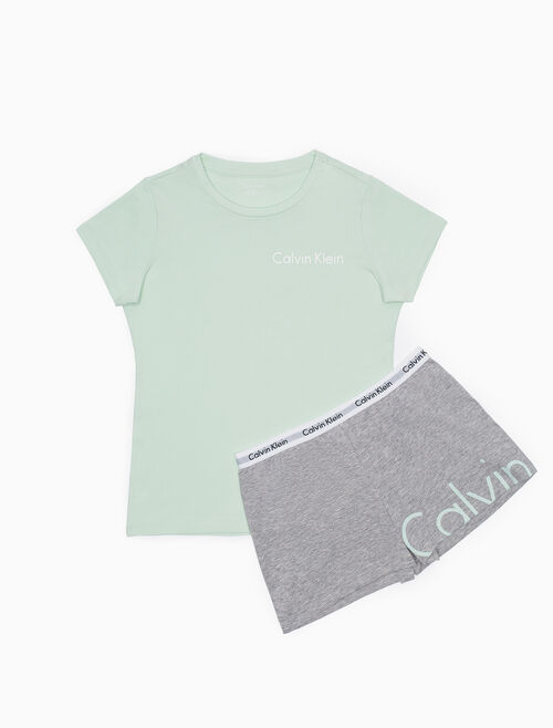 CALVIN KLEIN GIRLS KNIT PYJAMA SET
