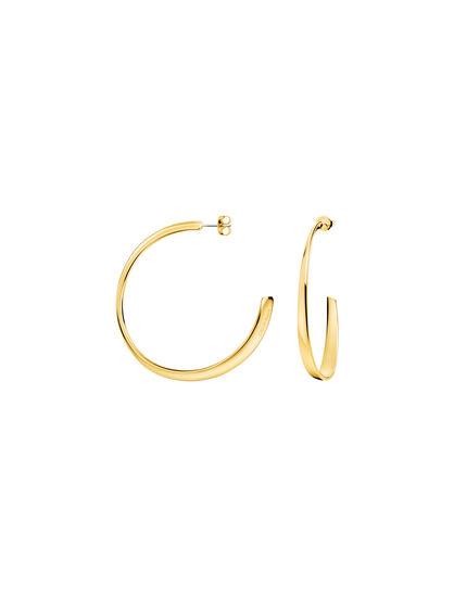 CALVIN KLEIN GROOVY CREOLE 耳環