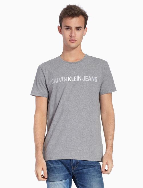 CALVIN KLEIN KNIT METALLIC LOGO 티셔츠