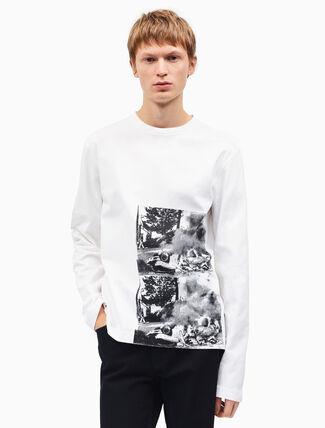 CALVIN KLEIN burning car ロングスリーブ Tシャツ