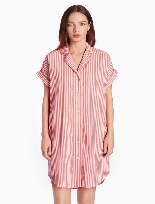 CALVIN KLEIN WOVEN COTTON SLEEP SHIRT