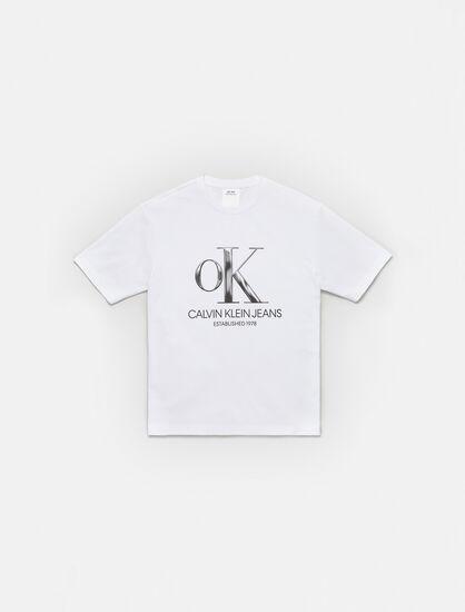CALVIN KLEIN OK LOGO CREWNECK T-SHIRT