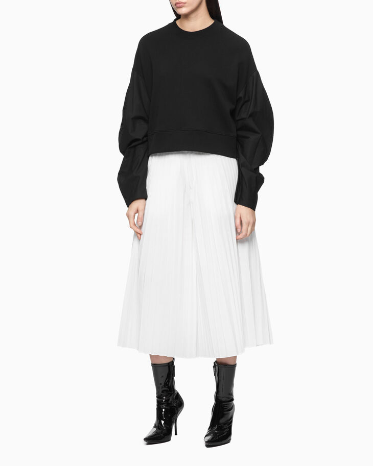 CALVIN KLEIN DOUBLE WAISTBAND PLEATED CULOTTES