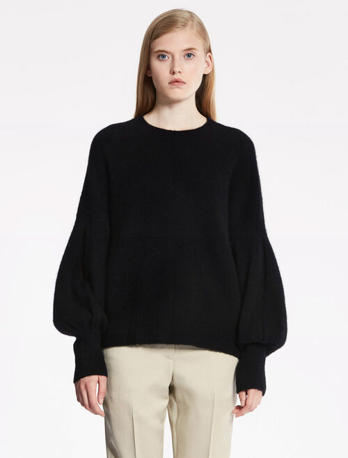 CALVIN KLEIN FELTED CASHMERE Long Sleeves TOP