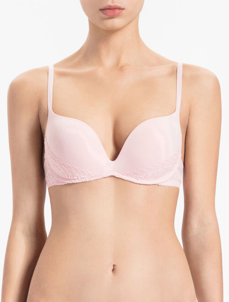CALVIN KLEIN SCULPTED SLIPCOVER PUSH UP PLUNGE BRA