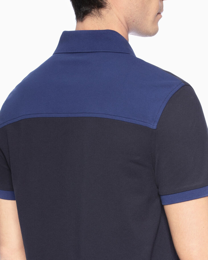 CALVIN KLEIN COLOR BLOCK POLO SHIRT