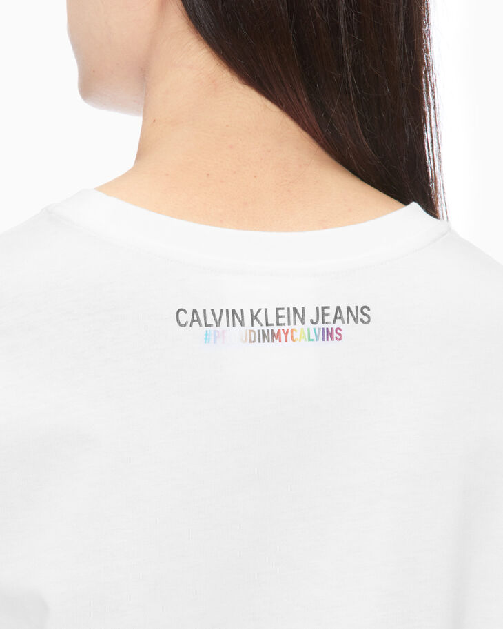 CALVIN KLEIN RAINBOW LOGO T-SHIRT DRESS