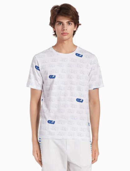 CALVIN KLEIN CKJ 올오버 프린트 슬림 티셔츠