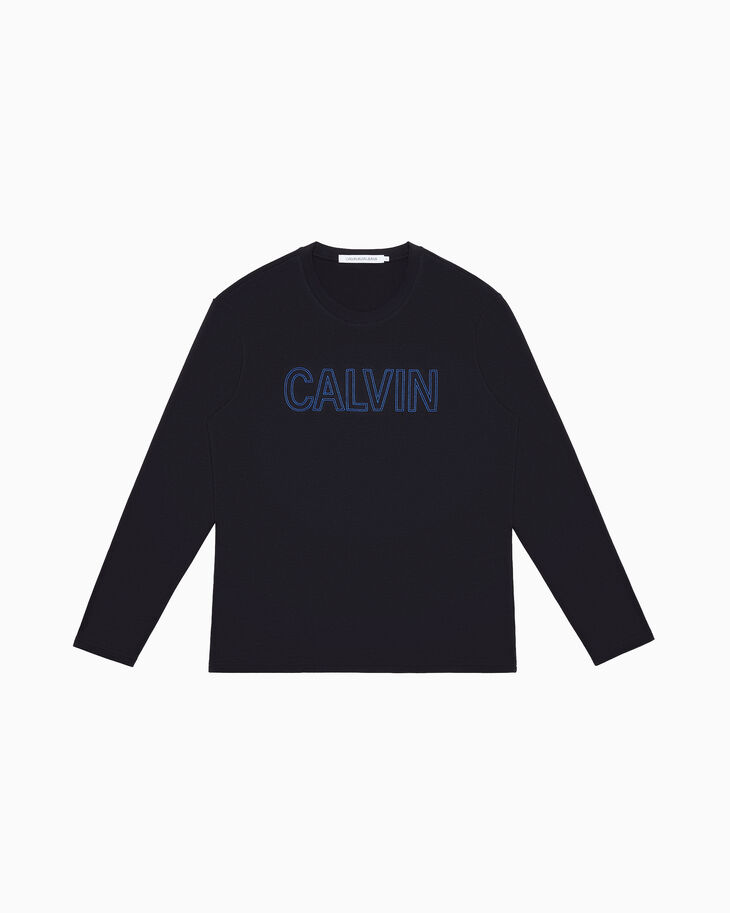 CALVIN KLEIN EMBROIDERED LOGO 긴소매 티셔츠