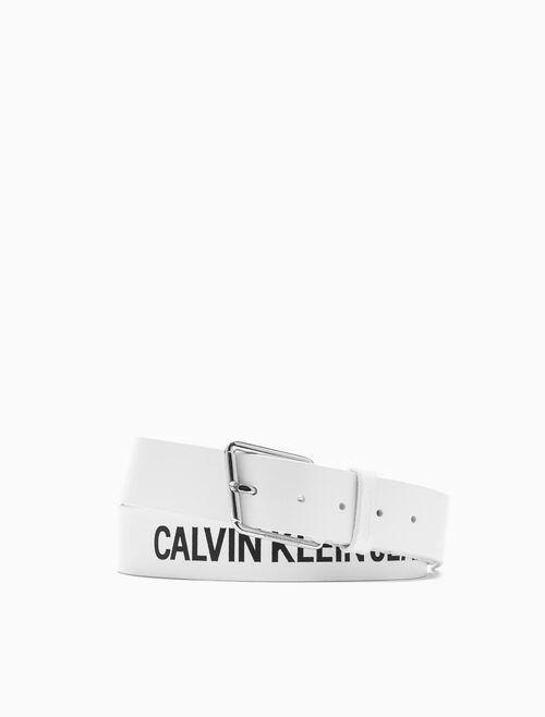 CALVIN KLEIN LOGO 針扣腰帶