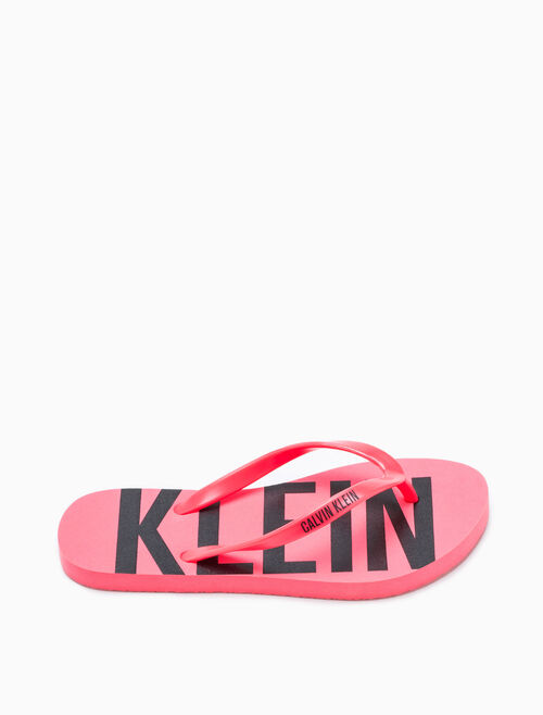 CALVIN KLEIN LOGO FLIP FLOPS