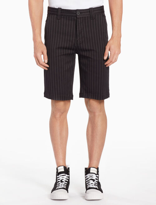 CALVIN KLEIN STRIPED TWILL SHORTS