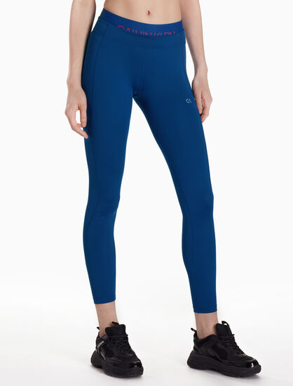 CALVIN KLEIN TWO-LAYER ANKLE LEGGINGS