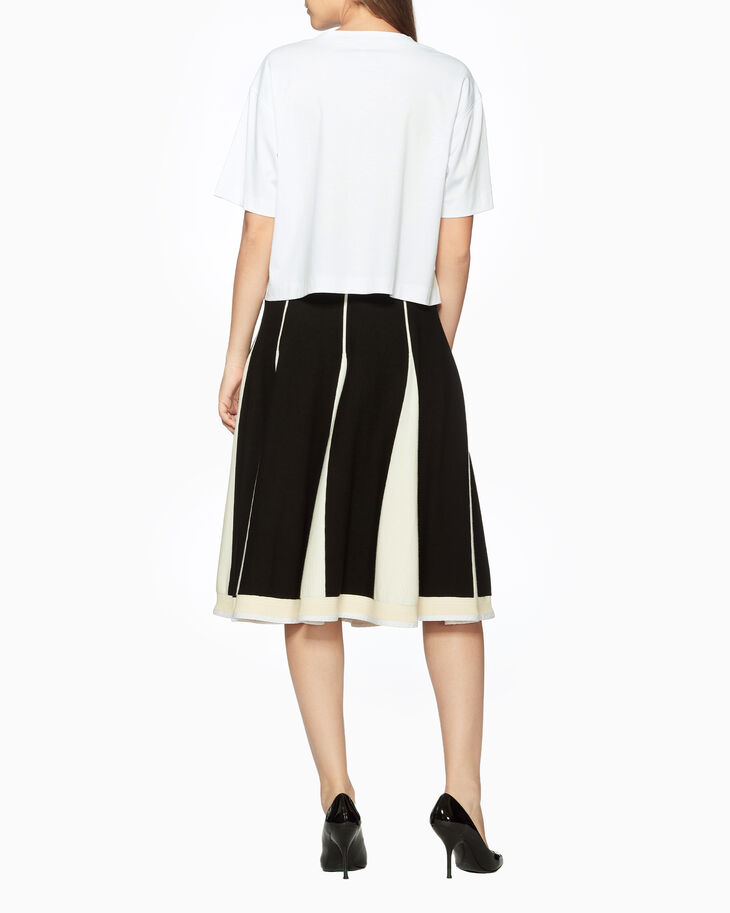 CALVIN KLEIN POLISHED COTTON CROPPED BOXY TEE