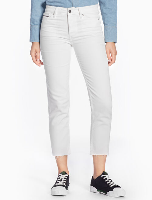 CALVIN KLEIN HIGH-RISE STRAIGHT CROPPED JEANS