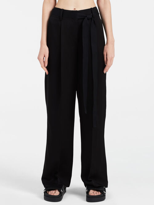 CALVIN KLEIN BELTED EXTREME WIDE PANTS