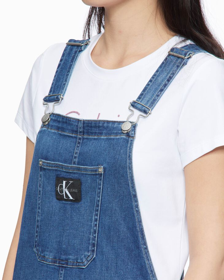 CALVIN KLEIN WASHED DENIM ROMPER