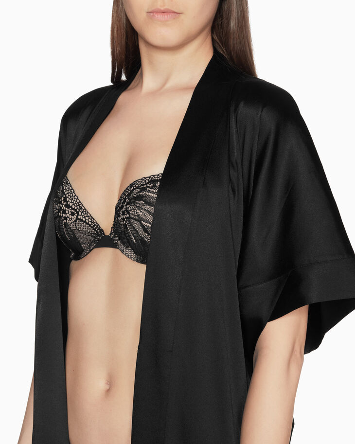 CALVIN KLEIN BLACK LACE ROBE