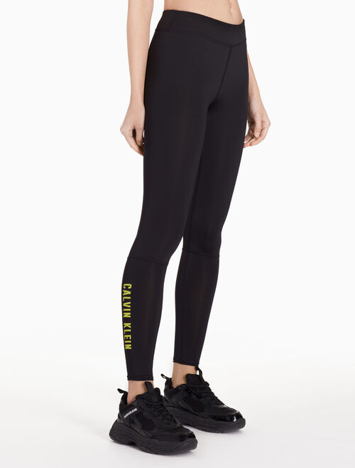 CALVIN KLEIN SIDE LOGO FULL LENGTH LEGGINGS