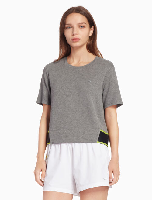 CALVIN KLEIN ACTIVE ICON ロゴヘム T シャツ