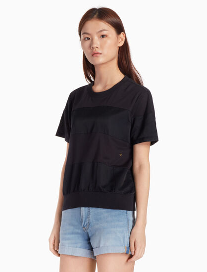 CALVIN KLEIN SILK BLEND SHORT SLEEVE TEE