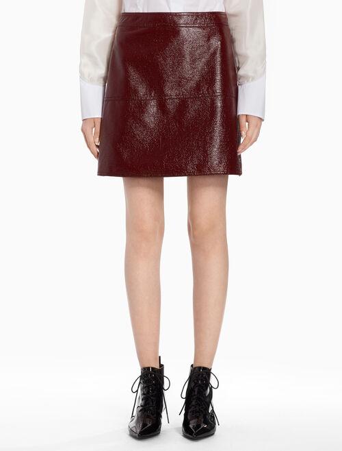 CALVIN KLEIN Crinkled mini skirt