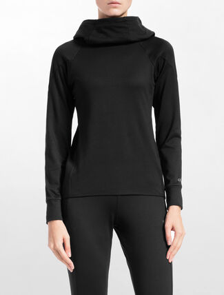 CALVIN KLEIN BRUSH PULLOVER WITH HOOD