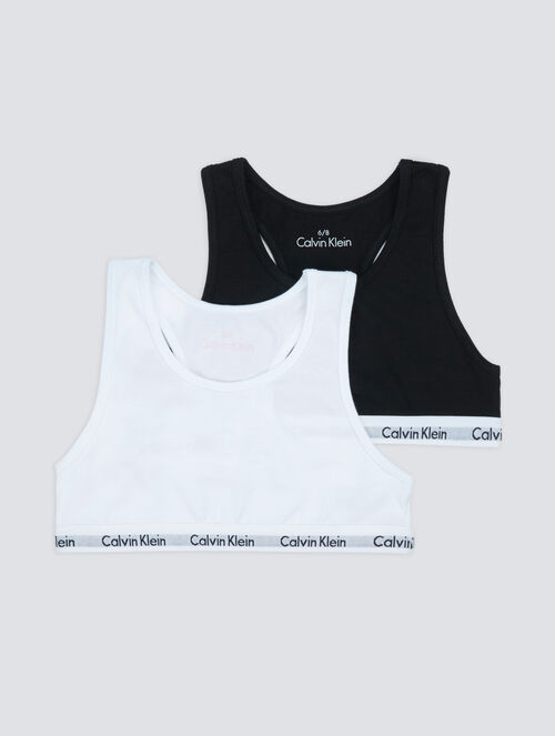 CALVIN KLEIN GIRLS KIDS LOGO ブラレット2枚パック