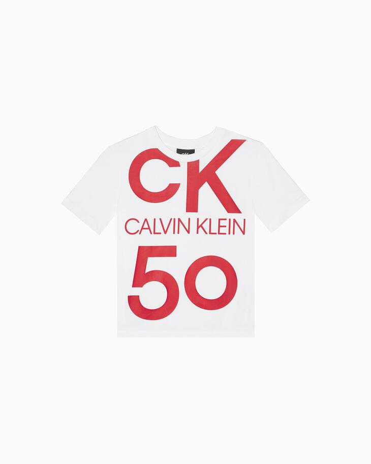 CALVIN KLEIN CK50 OVERSIZED LOGO STRAIGHT TEE
