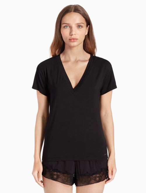 CALVIN KLEIN FLIRTY V NECK TOP