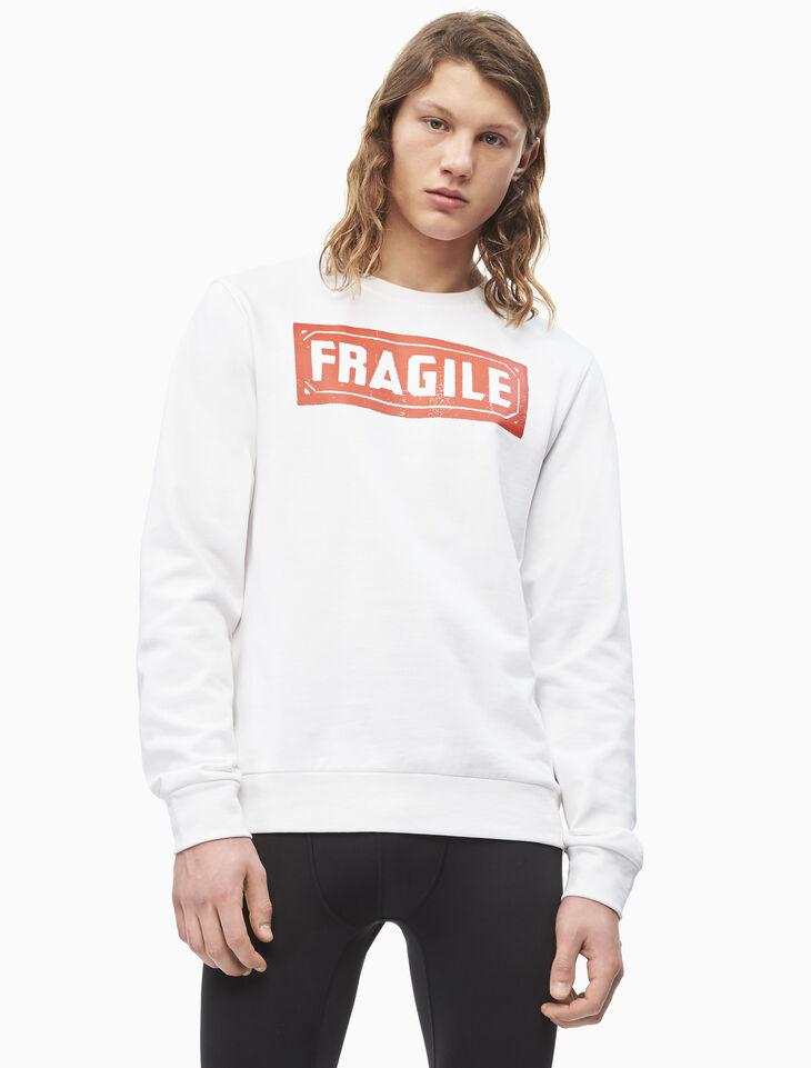 CALVIN KLEIN WARHOL FRAGILE PRINT 풀오버 스웨트셔츠