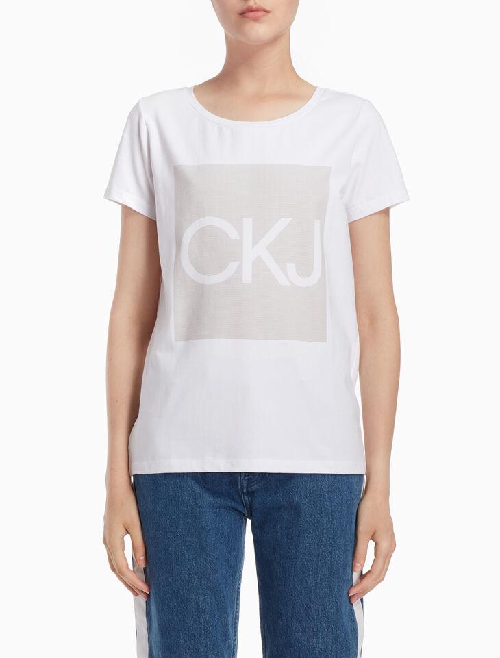 CALVIN KLEIN LOGO BOX 티셔츠
