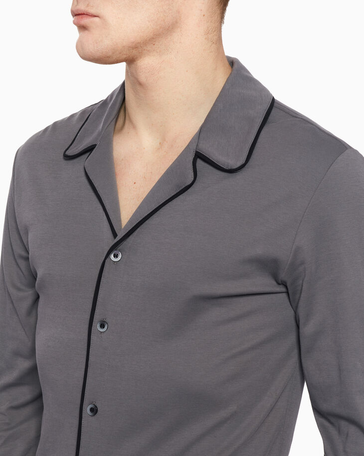 CALVIN KLEIN CK BLACK ELEVATED KNIT SLEEP SHIRT