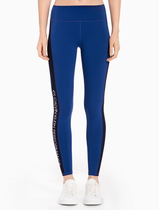 CALVIN KLEIN Full Length Leggings With Side Stripes