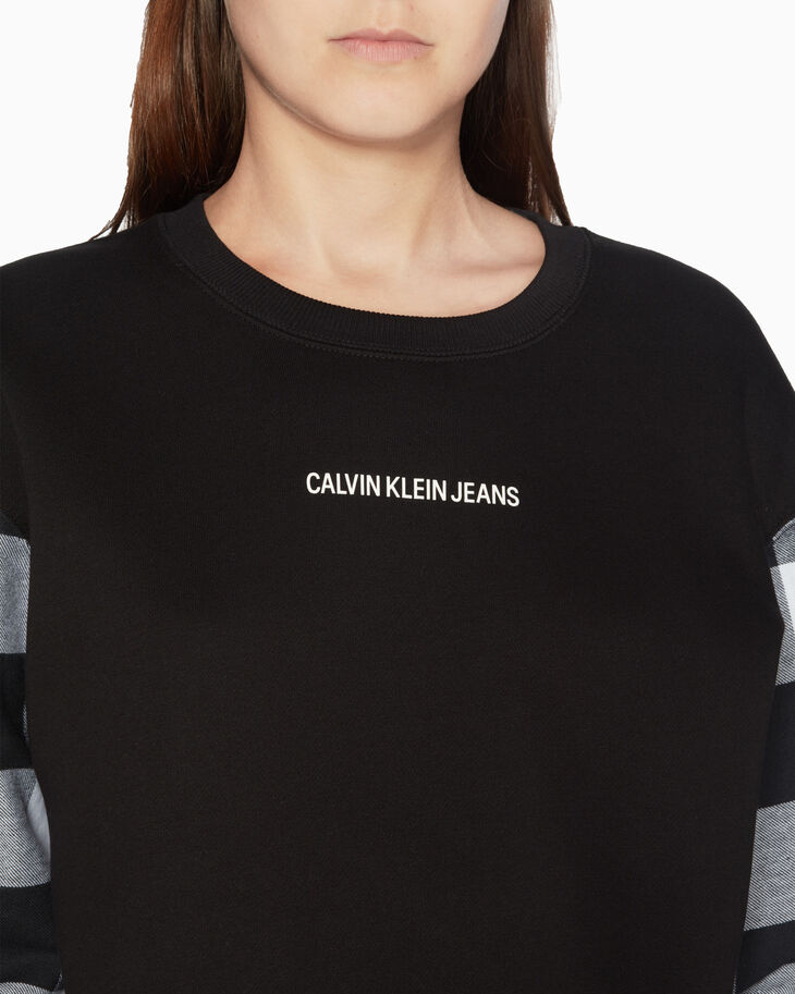 CALVIN KLEIN BUFFALO CHECK SWEATSHIRT