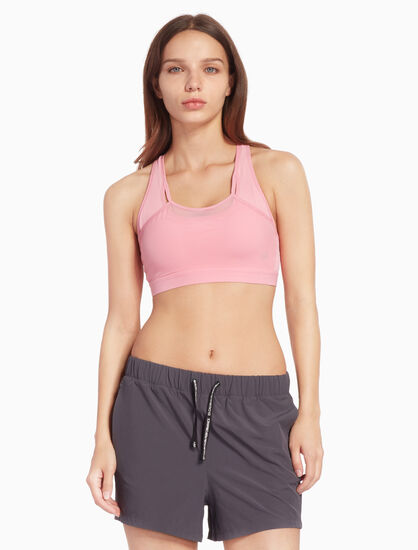 CALVIN KLEIN BACK STRIPE SPORTS BRA