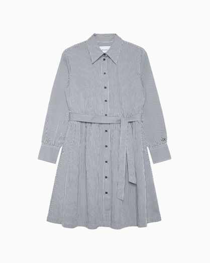 CALVIN KLEIN PINSTRIPE SHIRT DRESS