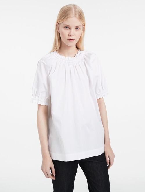 CALVIN KLEIN SPRING COTTON GATHERED TOP
