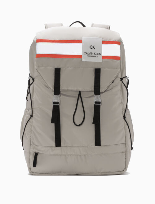 CALVIN KLEIN XL STRIPE BAND BACKPACK