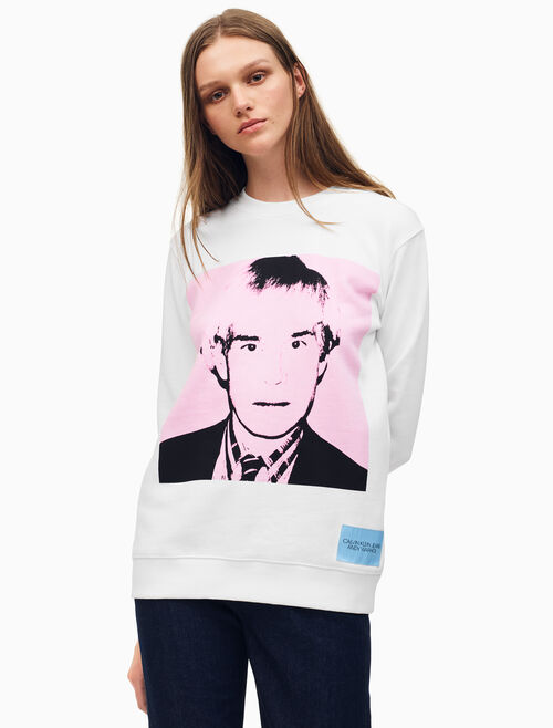 CALVIN KLEIN Warhol Portrait 릴렉스핏 크루넥 스웨트셔츠