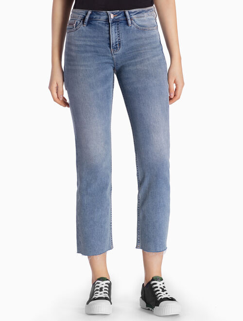 CALVIN KLEIN MANCHESTER BLUE SLIM CROPPED JEANS